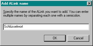 Add ALink name