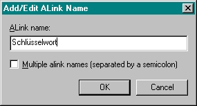 Add/Edit ALink Name